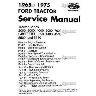 Ford Tractor Factory Oem Shop Service Manual 3400 3500 3550 4400 4500 5500 5550