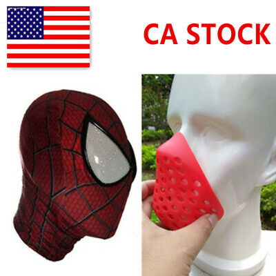 US! Spider-Man: Into the Spider-Verse Mask Breathing Mouth Soft Rubber Half - Mens Masks