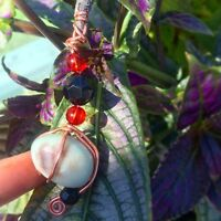 Wrapped healing stone necklace
