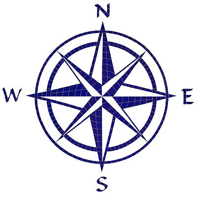 Compass Rose Ceramic Swimming Pool Mosaic