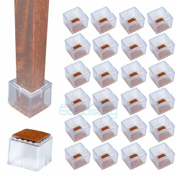 24pcs Silicone Table Chair Leg Protector Cover Anti Slip