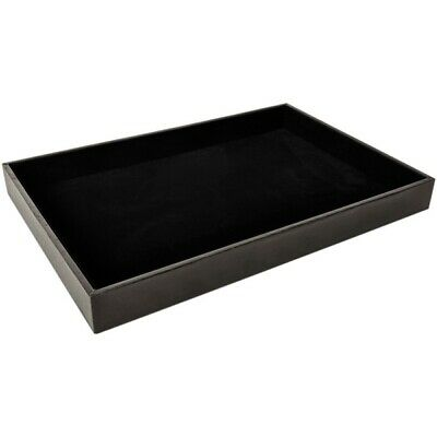 Ds-080 Black Velvet Multipurpose Jewelrytrinketsglasses Flat Display Tray