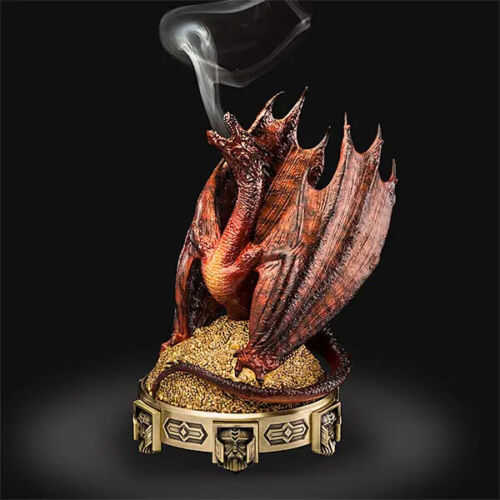 Lord of the Rings The HOBBIT Smaug Incense Burner Collectible Dragon Statue LOTR