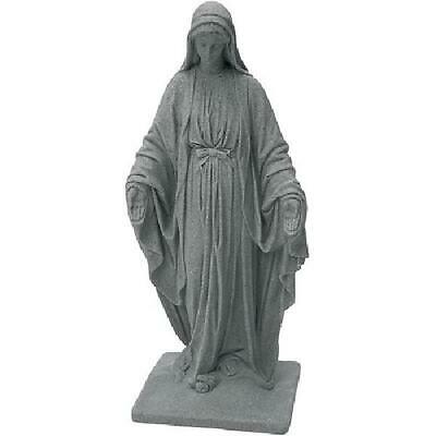 "Virgin Mary Statue Blessed Mother Garden Sculpture Granite Religious 34"" Decor"