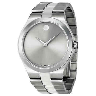 Movado Silver Dial Stainless Steel Men's Watch 0606556