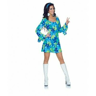 Underwraps Wild Blume Go Tänzer Hippie Erwachsene Damen Halloween Kostüm - Tänzer Halloween Kostüm