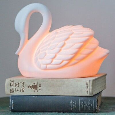 Streamline White Swan Table Lamp Desk Night Light Cord Switc
