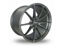 "19"" Staggered Ava Aspen (Matt Gunmetal) Alloy wheels & Tyres. Suit BMW E90, E92, F30 & F10 Etc 5x120"