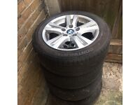 Bmw 16 inch 4 alloy wheels with tyres