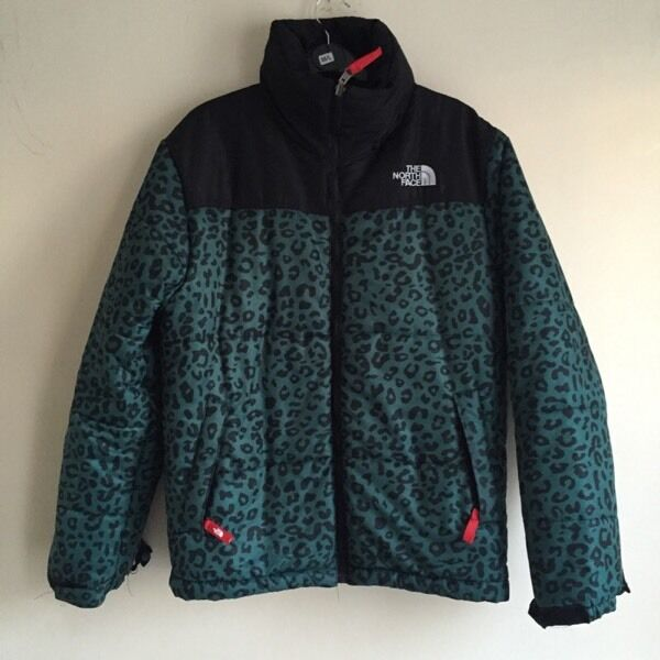 bd6447a07 spain north face puffer jacket leopard print 192cf be539