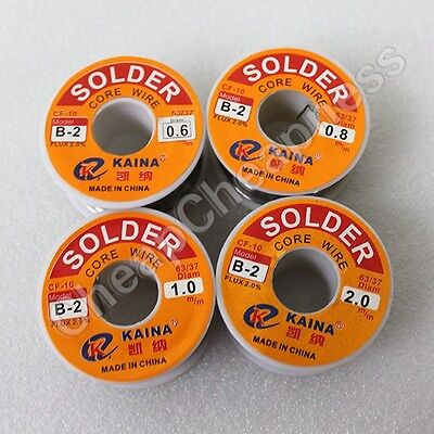 100g 2mm 6337 Tin Lead Wire Reel Rosin Core Flux Soldering Welding Iron Gs