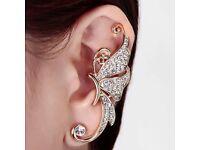 Beautiful One Piece Stylish Rhinestone Butterfly Cuff Earring For Women