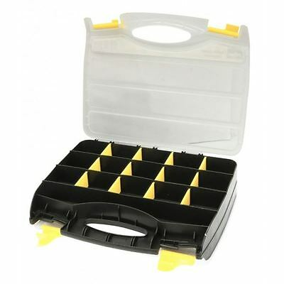 Rolson Double Sided Plastic Storage Box Organiser Case with 32 Compartments