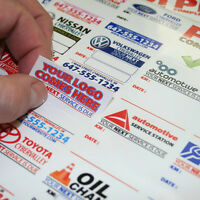 $59 · 250 Custom Full Color Oil Change Reminder Stickers