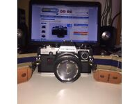 Vintage Olympus camera with Case and Strap om10