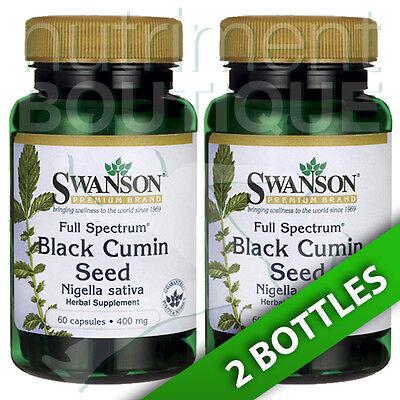 Full Spectrum Black Cumin Seed 400 Mg Swanson Premium Nigella Sativa 2X60caps