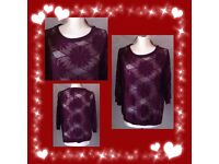Atmosphere women's wine red top size 12