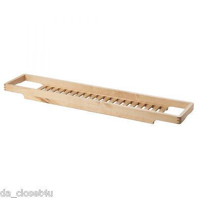 Bath Rack Organizer Ikea Molger Birch Wood Bathtub Toys Soap Shampoo ...
