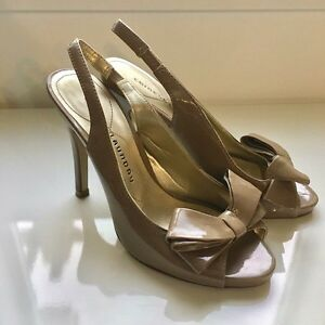 nude chinese laundry heels with bow