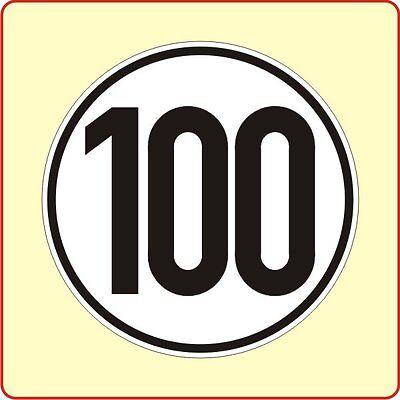 Geschwindigkeitsschild § 58 StVZO 100 km Aufkleber Autoaufkleber Sticker