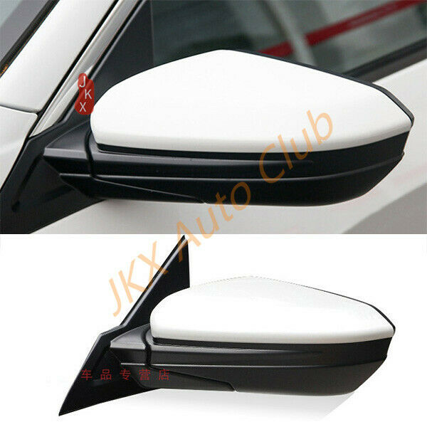 For Honda Civic 10th 2016 17 18 White RH Passenger  Rear View Mirror Assembly J