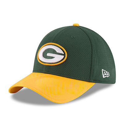 Green Bay Packers New Era 39Thirty Nfl Sideline Mens Fitted Cap Hat   Size  M L