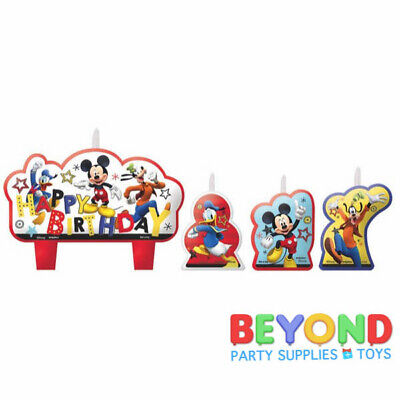 Disney Mickey and the Roadster Racers Happy Birthday Cake Topper Candle Set 4pc](Mickey Cake Topper)