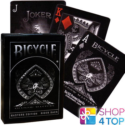 BICYCLE SHADOW MASTERS BLACK ELLUSIONIST PLAYING CARDS DECK MAGIC TRICKS USPCC