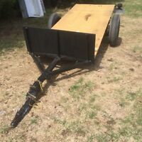 Utility trailer with new deck