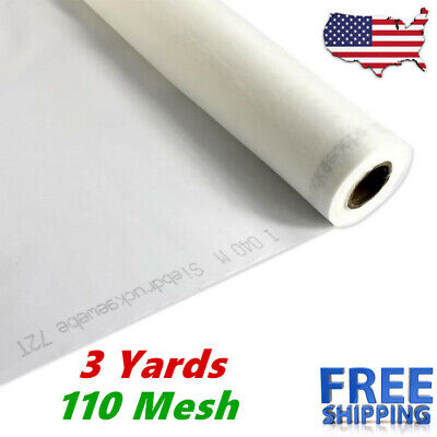 3 Yards 110m 43t Polyester Silk Screen Printing Mesh Fabric White - 108 L