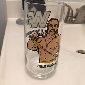 Vintage 1990 Hulk Hogan WWE WWF glass