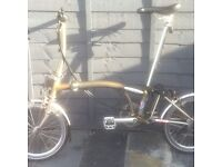 Nearly New Brompton S6LX in Raw Lacquer