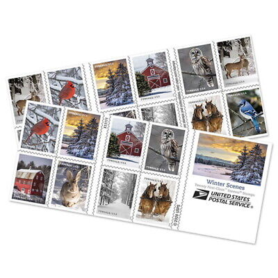 USPS New Winter Scenes Booklet of 20