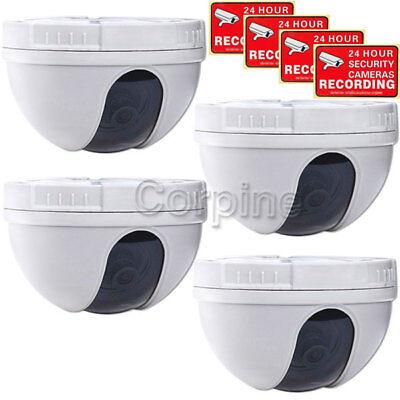 4 x Dome Security Cameras Color CCD Wide Angle CCTV Home Indoor Surveillance mi3