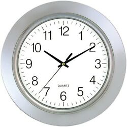 13 Chrome Bezel Round Wall Clock