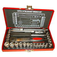 LOW PRICE! 1/4 Inch 33pcs Socket Wrench Set, Brand New