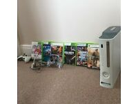 Xbox 360 - 60GB Console - All Leads & Box - 8 Games: GTA 5 & MW2
