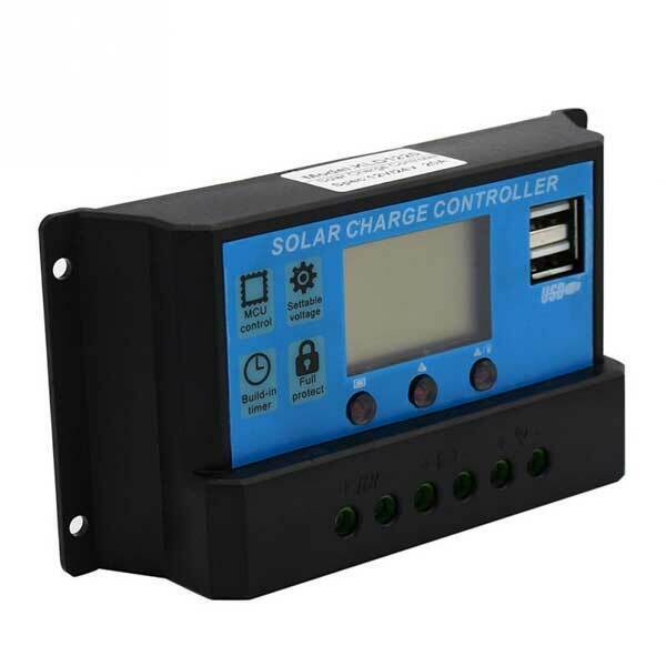 PWM 30A Solar Charge Controller 12V 24V LCD Display Dual USB Solar Panel cont...