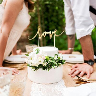 Tortendekoration 'Love' - gold Hochzeit Vintage Tortenaufsatz Cake Topper