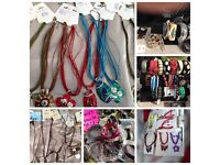 Joblot fashion jewellery, hair accessories and jewellery display