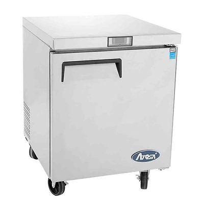 New 27 1 Door Undercounter Worktop Refrigerator With Casters Free Shipping