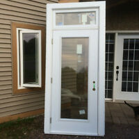 Gone! New Pre Hung Exterior Metal Door with Transom