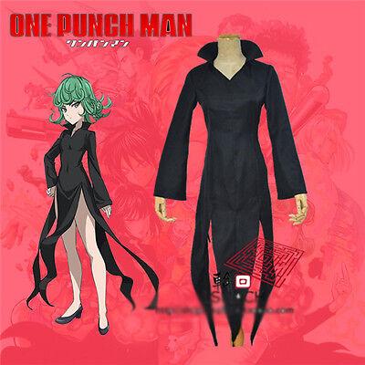 One Punch Man Wanpanman Tornado Cosplay Costume Summer Black Dress Free - Tornado Kostüm