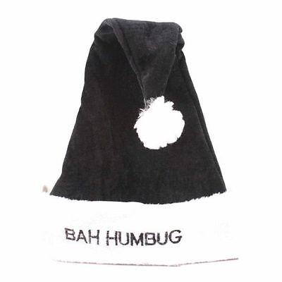 Christmas Deluxe Bah Humbug Santa Hat Scrooge Office Party Great Black & White](Bah Humbug Santa Hat)