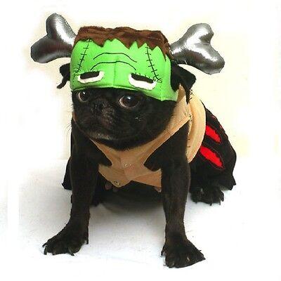 Dog Halloween Costumes Frankenstein (Barkenstein Dog Frankenstein Costumes - Halloween Green Monster Dogs Apparel)