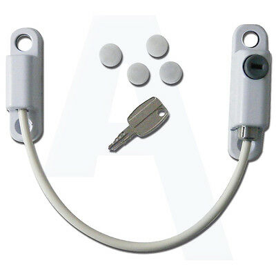 Chameleon Window Cable Restrictor Child Safety for All Windows - White