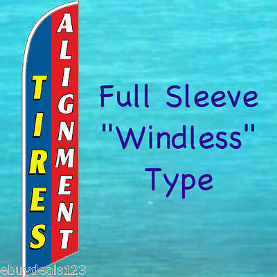 Tires Alignment Windless Feather Flag Swooper Flutter Banner Advertising Sign