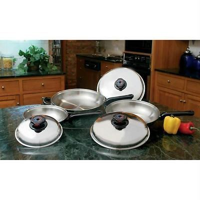Precise Heat™ 6pc 12-Element T304 Stainless Steel Skillet Set