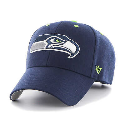 Seattle Seahawks 47 Brand Navy Blue Adjustable Audible 47 Mvp Hat