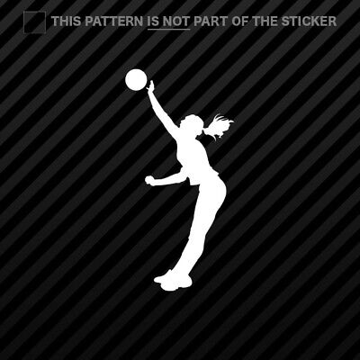 ((2x) Womens Volleyball Sticker Self Adhesive Vinyl Girl Spike Silouette)